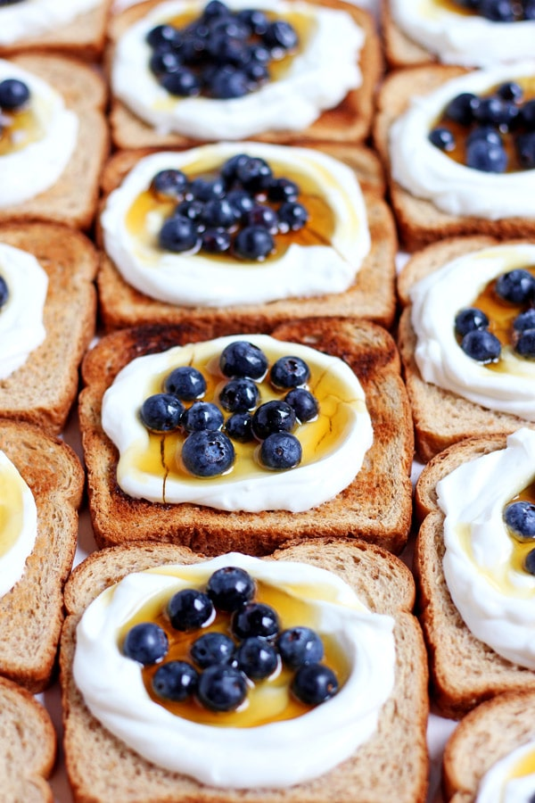 Simple Yogurt Breakfast Toast + Flax and Honey