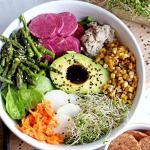 Summer Goddess Bowl + Avocado and Black Sesame Seeds