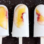Vegan Peaches and Cream Popsicles