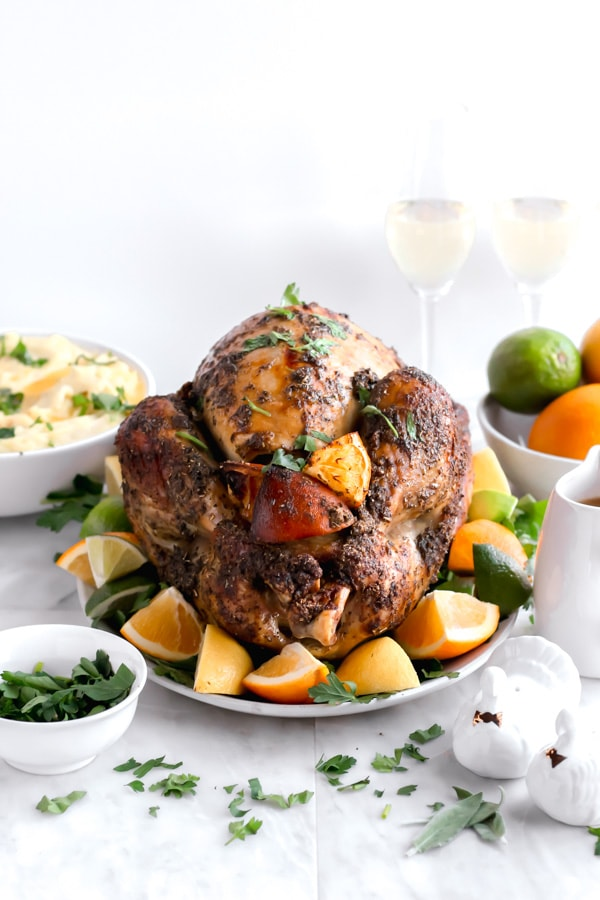 Citrus Herb Roasted Thanksgiving Turkey - a easy and delicious foolproof way to make the perfect Thanksgiving Turkey!