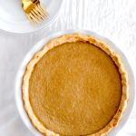 Delicious Dairy Free Pumpkin Pie - enjoy your favorite Thanksgiving dessert with no dairy added! #dairyfree