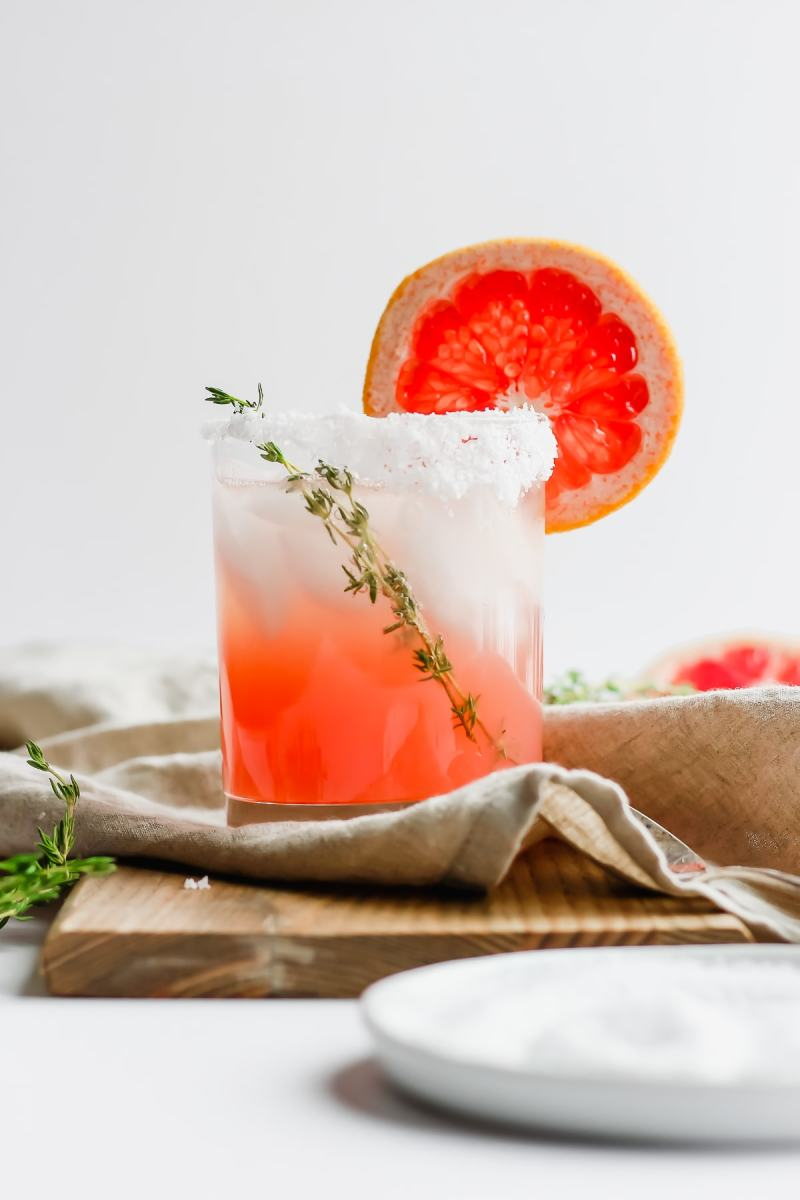 Citrus Paloma Mocktail with Thyme