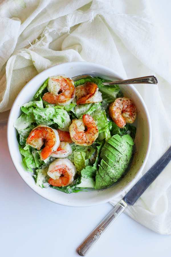 Easy Shrimp Caesar Salad (Whole30)