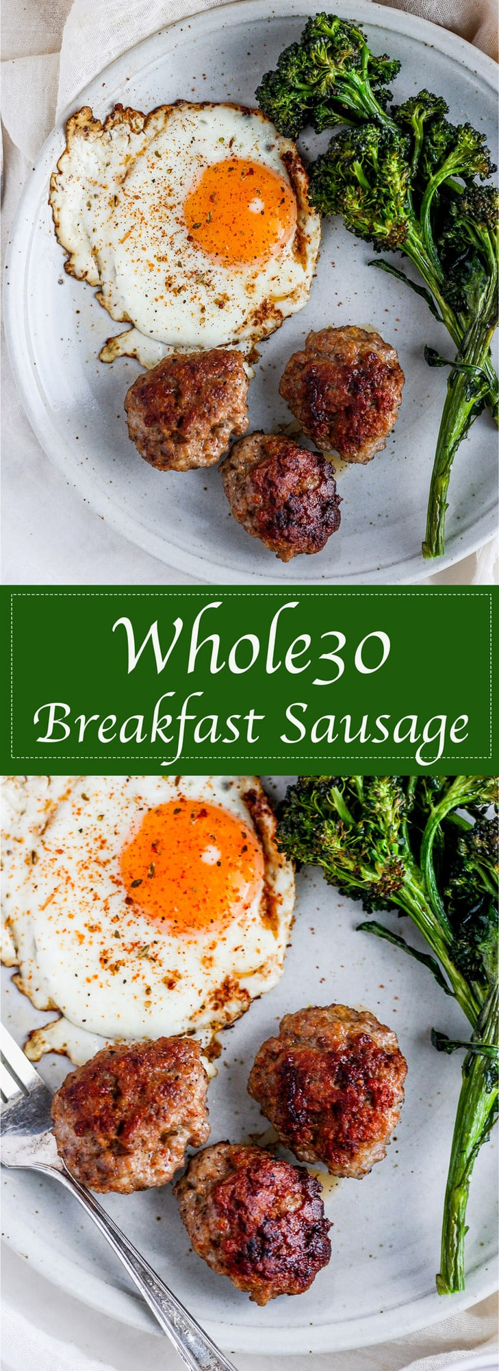 Simple Whole30 Breakfast Sausage - easy to make and perfect addition to your breakfast!