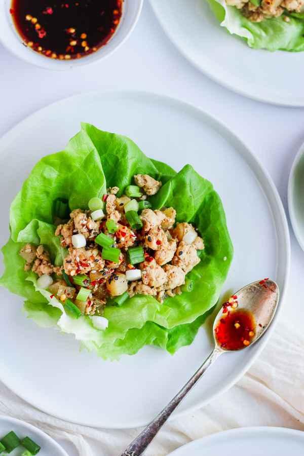 Weeknight Chicken Lettuce Wraps