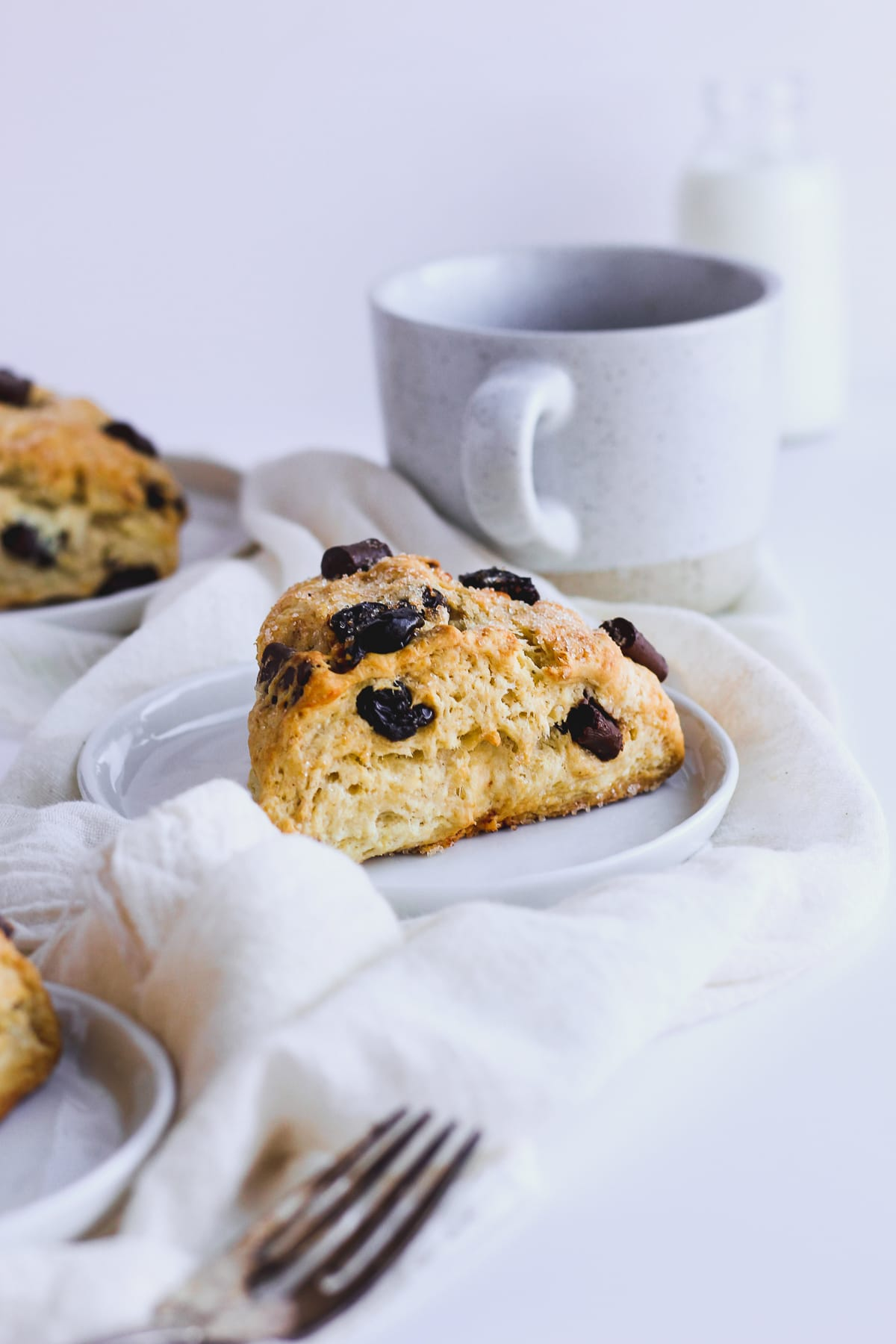 Dairy-Free Chocolate Cherry Scones - a light and delicious way to start your morning! #dairyfree #vegan