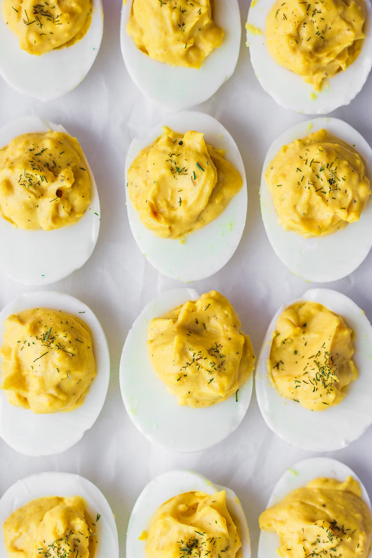Classic Whole30 Deviled Eggs - the perfect spring appetizer! #whole30 #paleo
