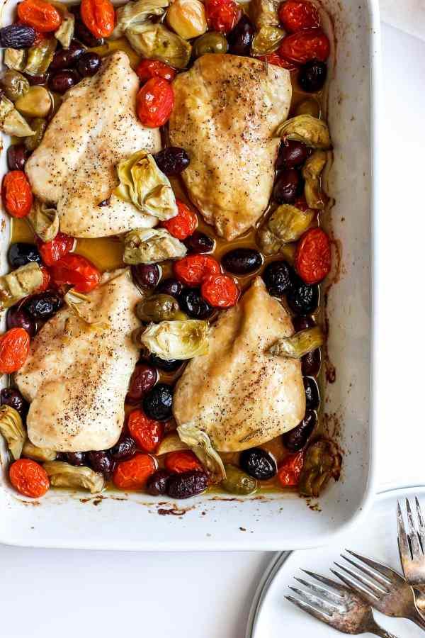 Easy Weeknight Greek Chicken Bake