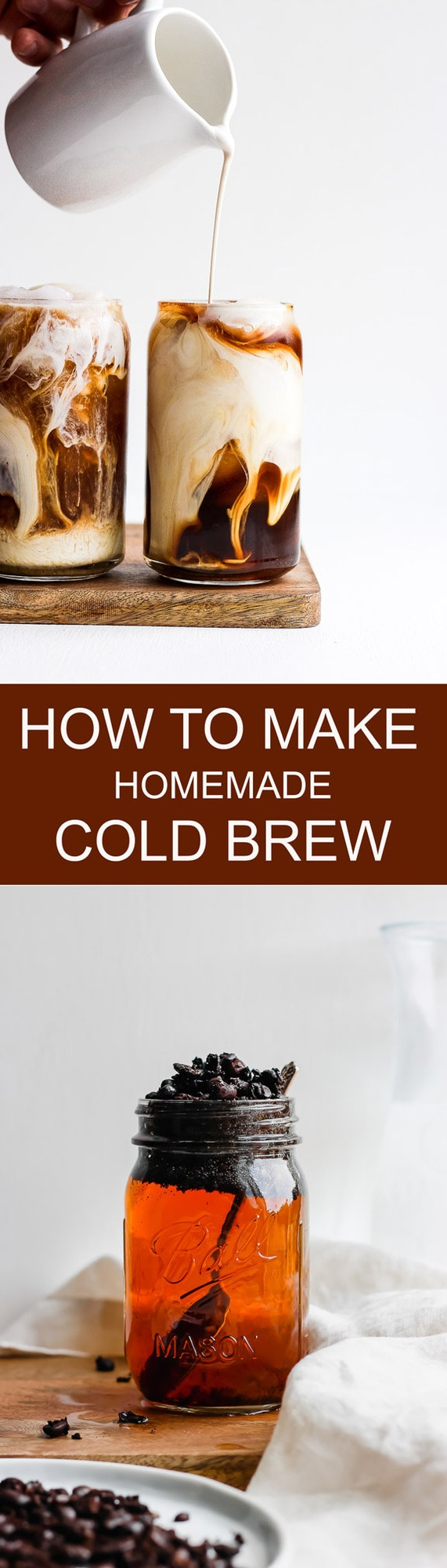 How to Make Homemade Coffee - step by step tutorial so you can make your own cold brew at home! #coldbrew #coffee #homemadecoldbrew