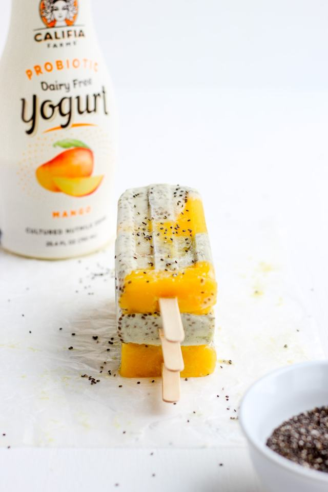 Dreamy Mango Banana Chia Pudding Pops