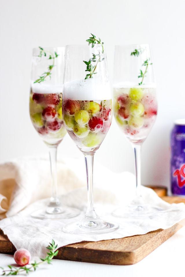 Frozen Grape Mimosa Mocktail