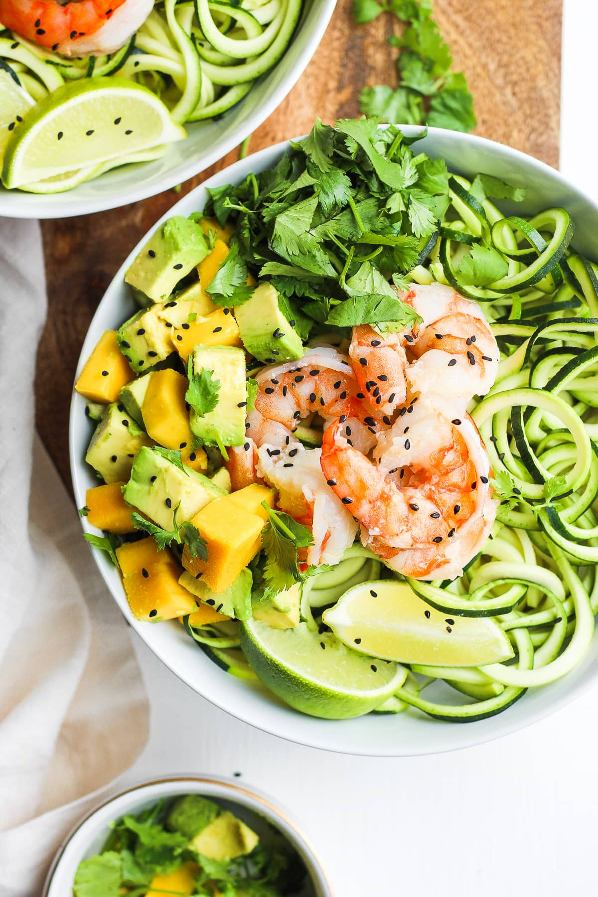 Light Citrus Buttered Prawns with Zoodles - a light and refreshing summer dinner! #whole30 #paleo #shrimp