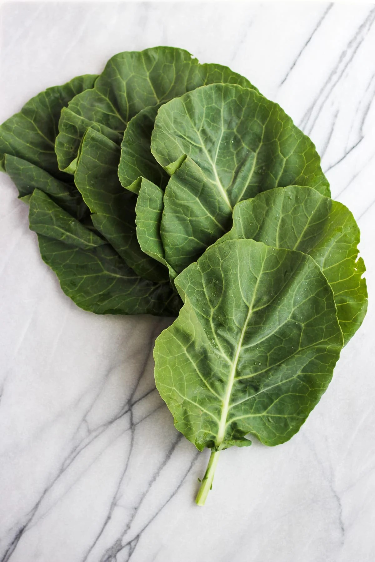 How to Prep Collard Green Wraps - a step by step tutorial! #collardgreenwrap