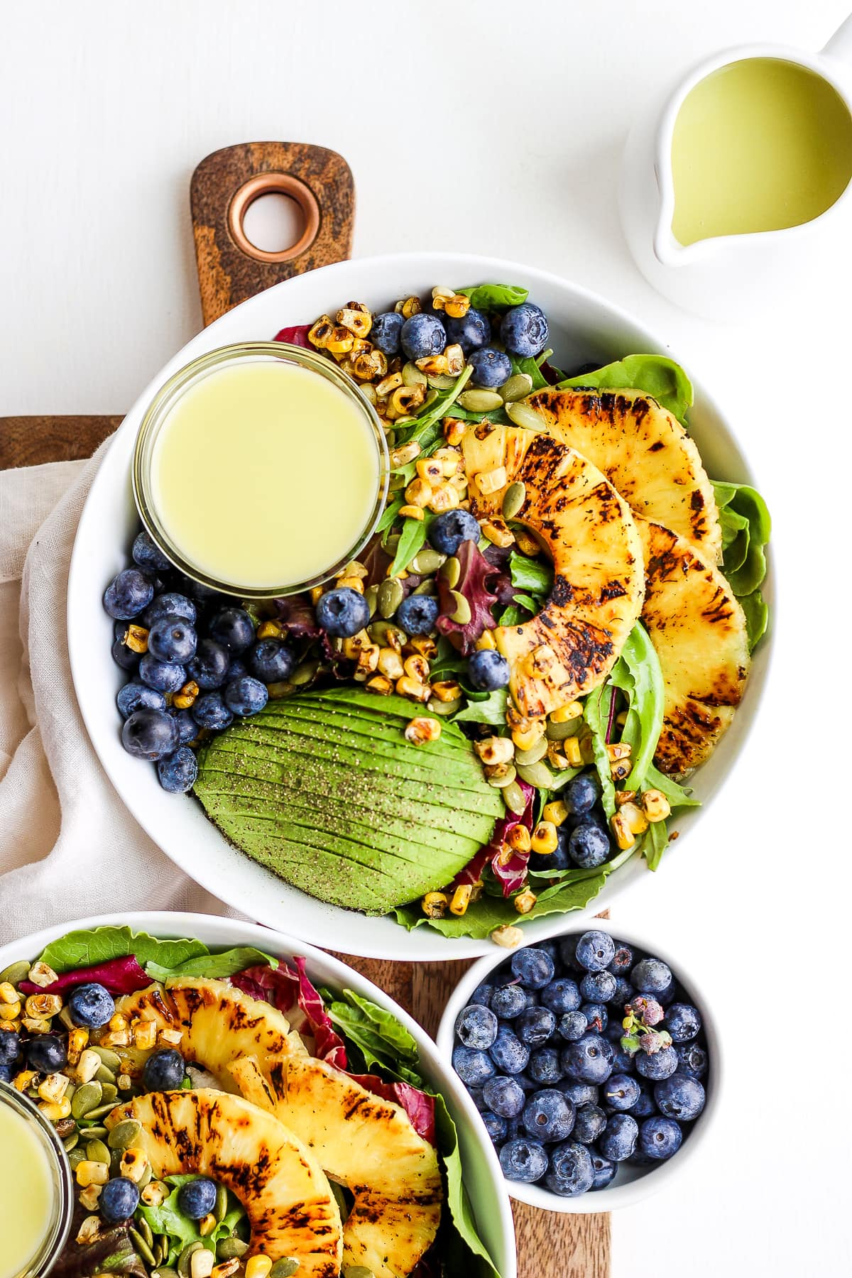 Creamy Citrus Dressing Grilled Pineapple Salad