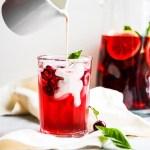 Delicious Hibiscus Cherry Iced Tea Cooler