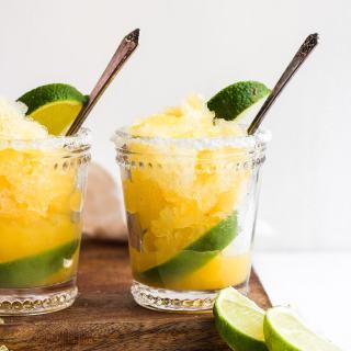 Lemon Lime Citrus Granita - a sweet and simple dessert! #vegan #dairyfree