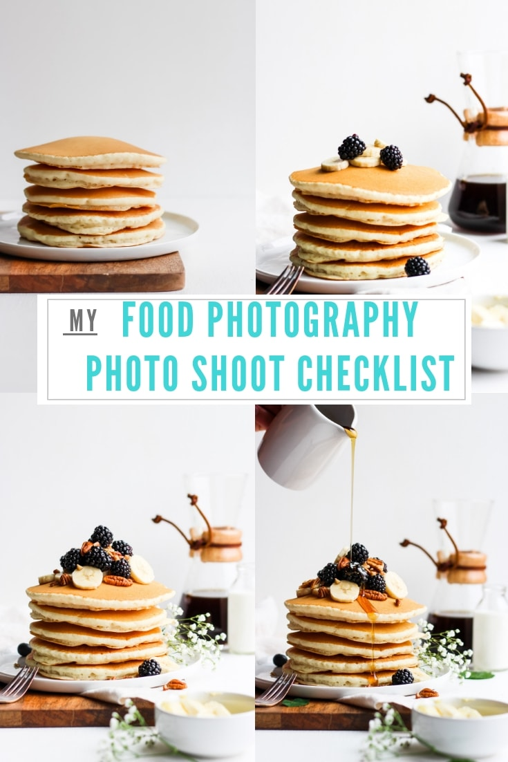 My Food Photography Photo Shoot Checklist - save this one away for reference during your photo shoots! #foodphotography #foodstyling #foodstylingtips #foodblogging