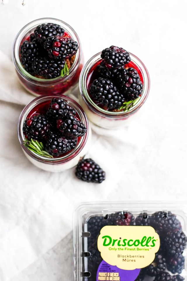 Vegan Blackberry Cheesecake Jars