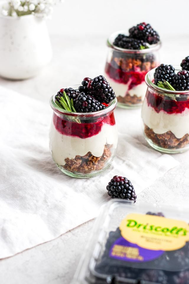Vegan Blackberry Cheesecake Jars