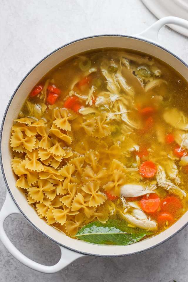 Sunday Afternoon Roasted Chicken Soup