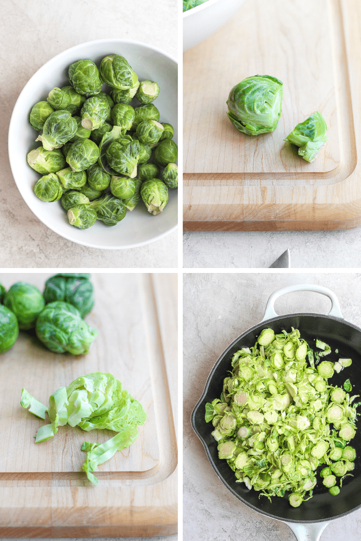 shaved brussel sprouts