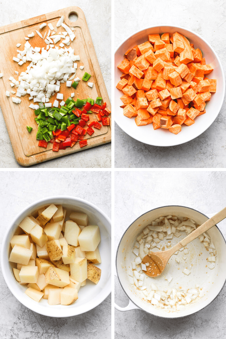 Easy Sweet Potato Curry ingredients.