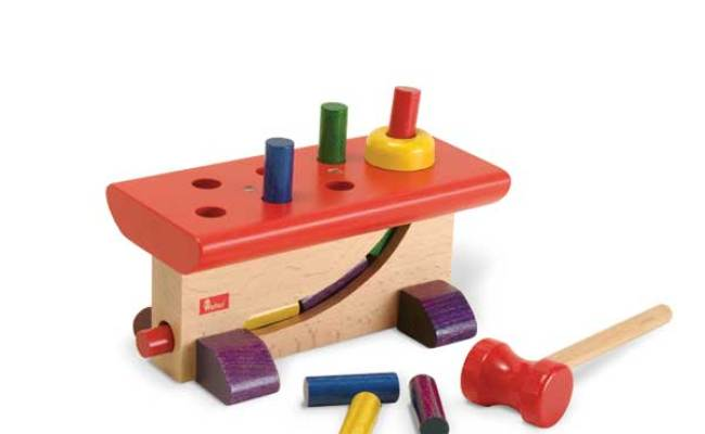 Wooden Pounding Bench Game