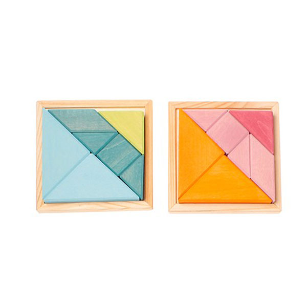 Creative Set Tangram With Template Orange Pink Traditional Games PUZZLES GAMES