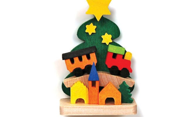 Christmas Tree With Toy Train Ornament