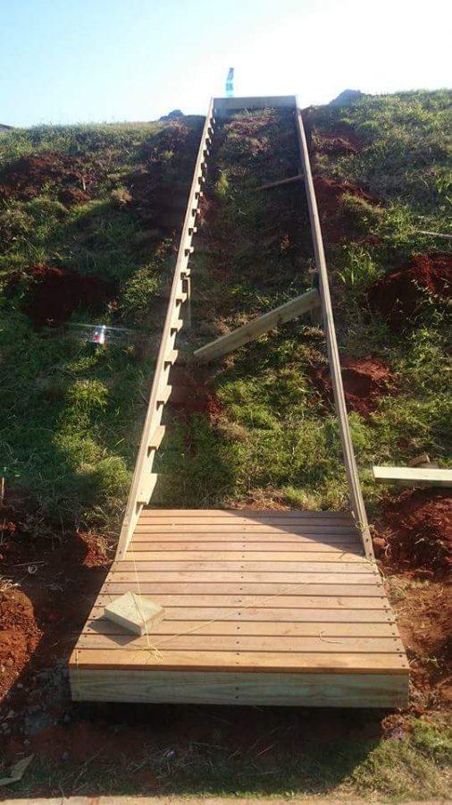 Temporary Timber Stairs Umhlanga February 2016 4