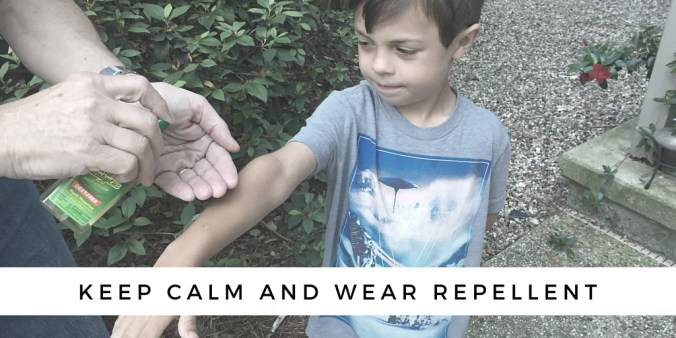 BUG OFF- USING MOSQUITO REPELLENT