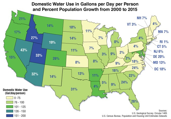 EPA Domestic water use map