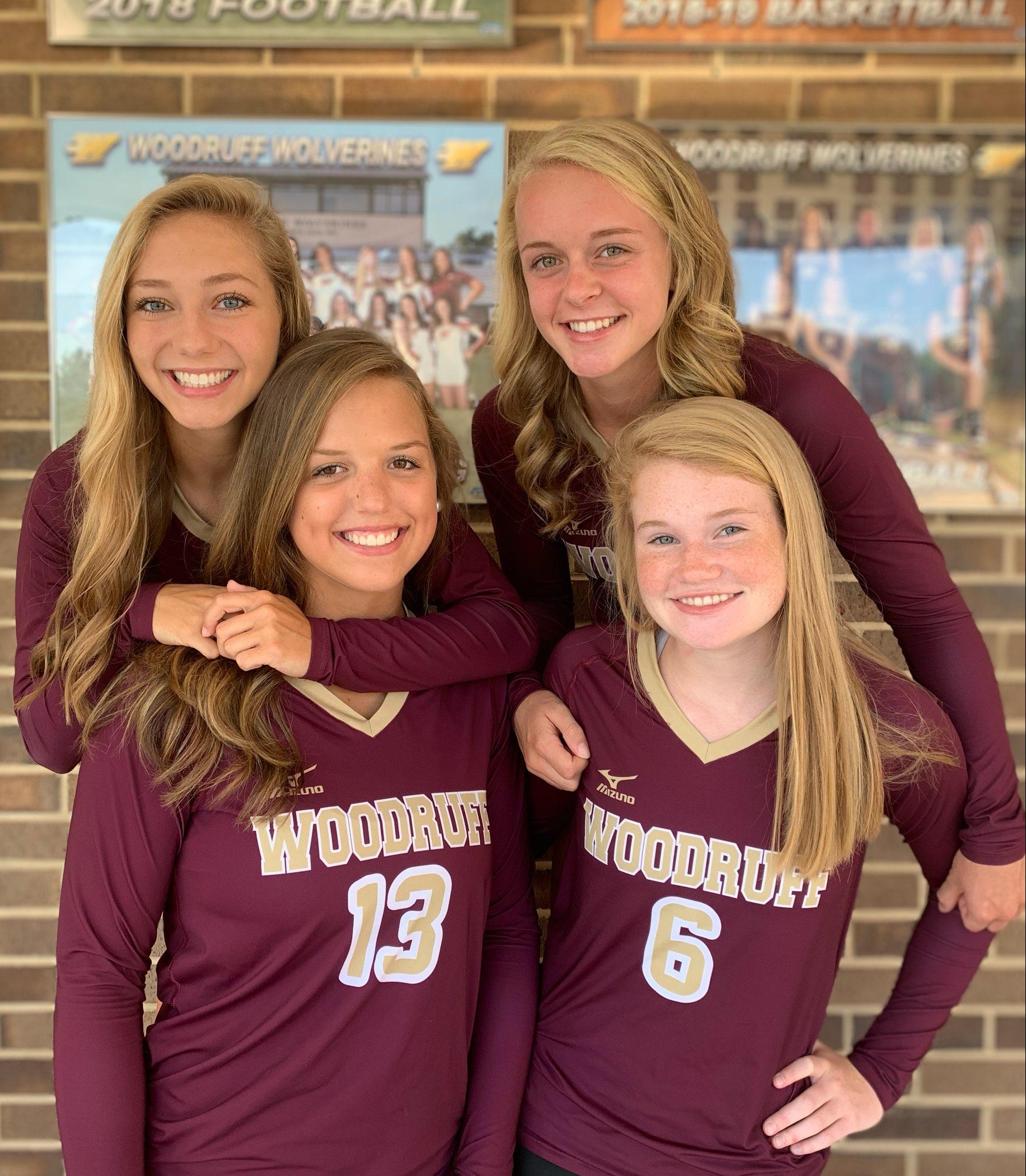 All-Region quartet leads Woodruff volleyball to successful season