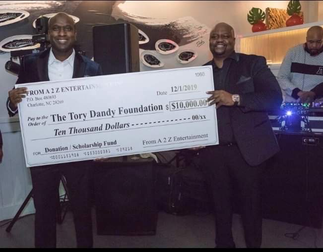 Tory Dandy Foundation receives $10,000 donation