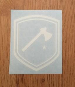 woods badge vinyl