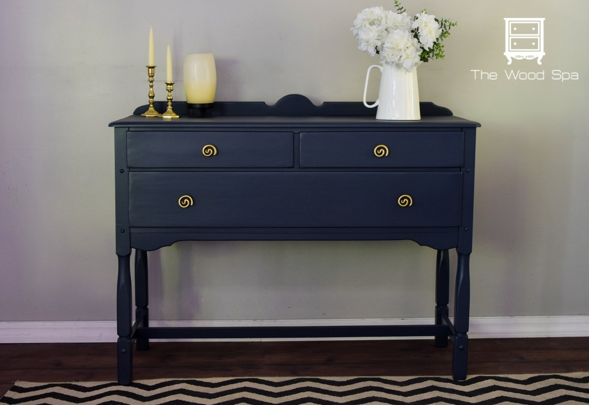 Navy Blue Sideboard The Wood Spa By Pat Rios