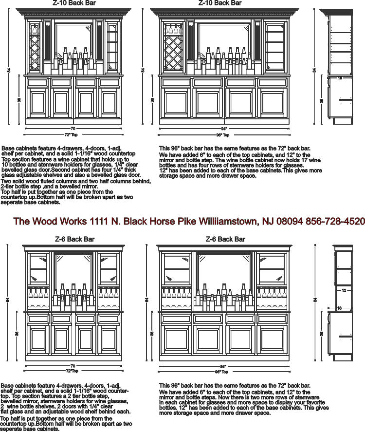 Back bar designs by The Wood Works