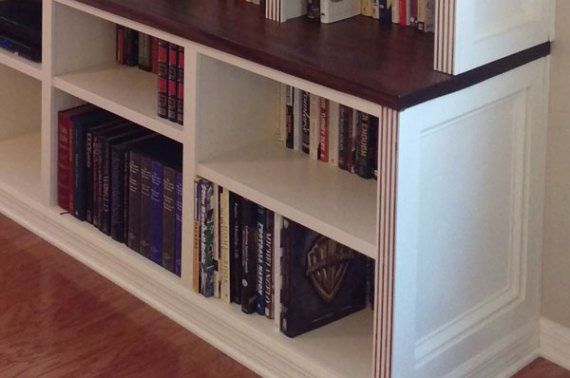 Large Bookcase Media Center