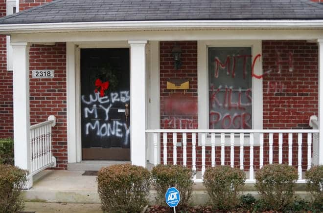 McConnell, Pelosi Homes Vandalized