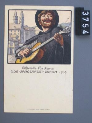 Zürich, Officielle Postkarte, Eidg Sängerfest, 1905