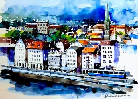 Brindarica Bose, Zürich, Aquarelle
