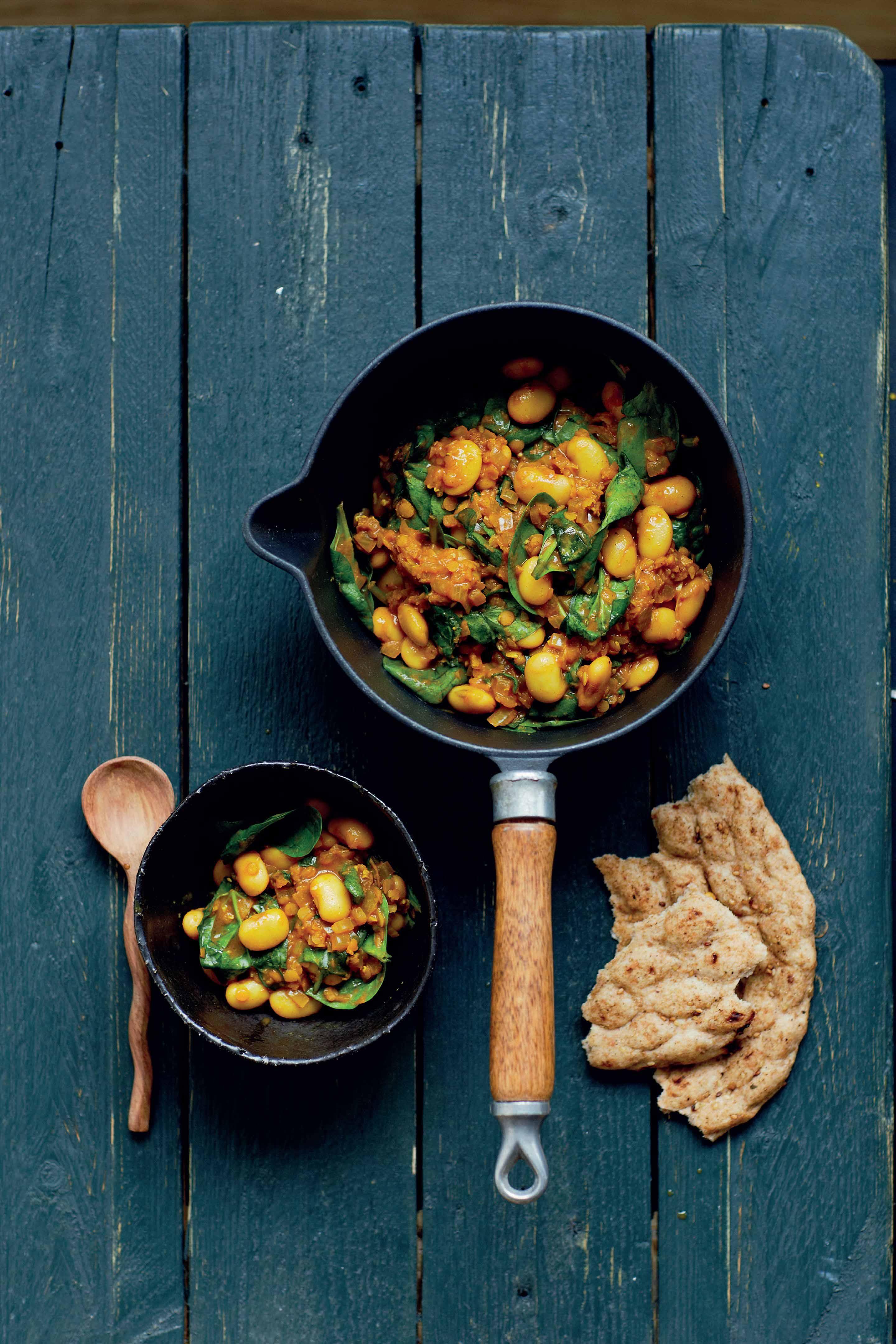 Julie Montagu's Spicy Butter Bean Dhal