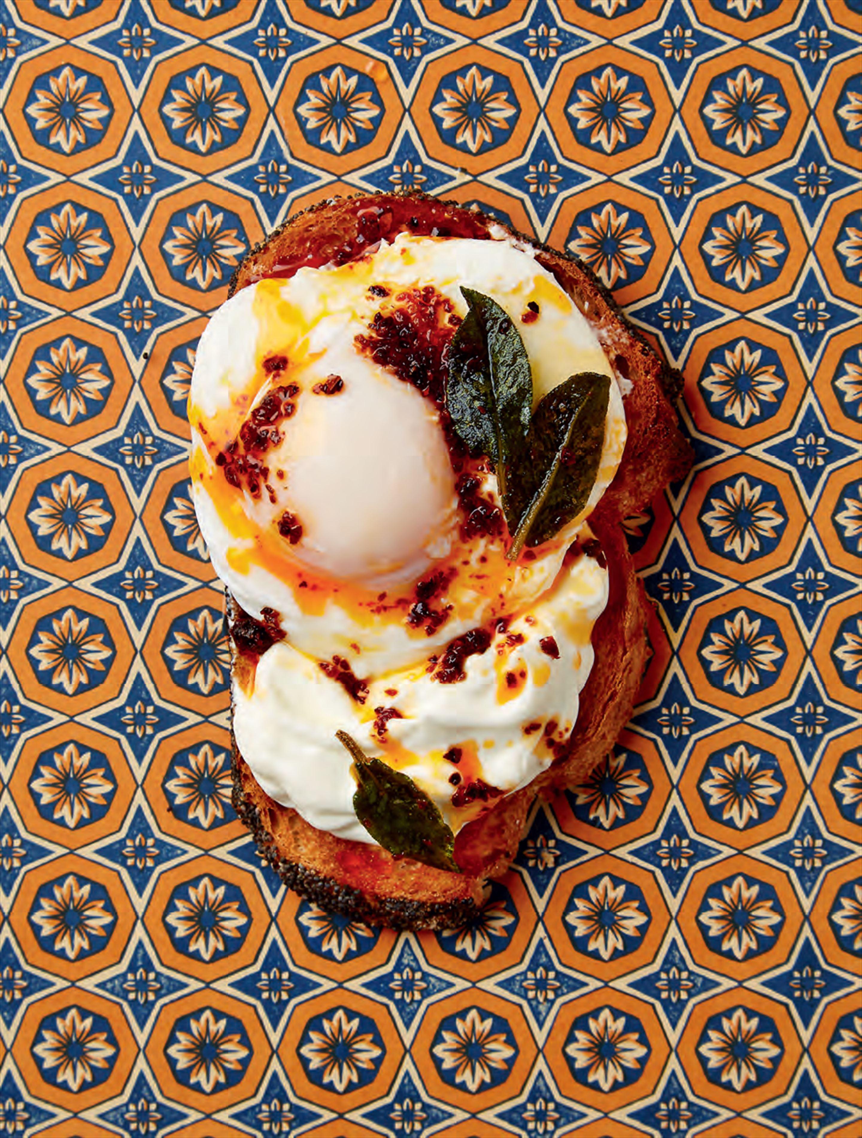 Turkish eggs on toast