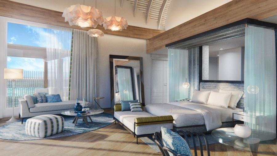 JW Resort and Spa Maldives - Water Villa (interior)