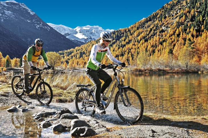 Biking in the Engadine