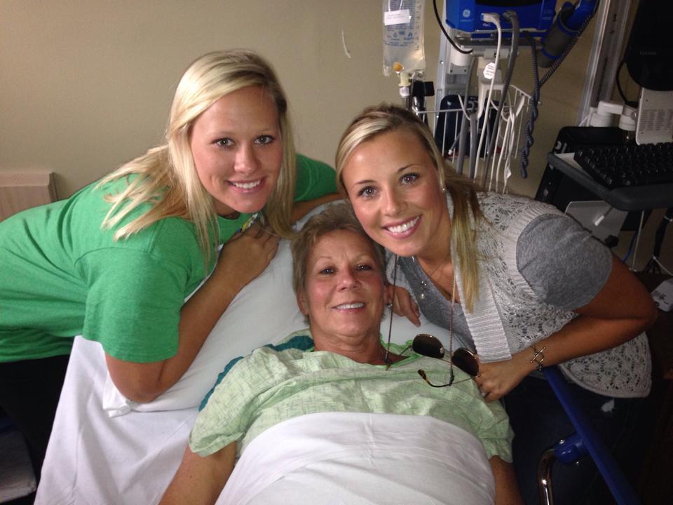 LaQuetta so happy, post-surgery with Hali & LaKristin