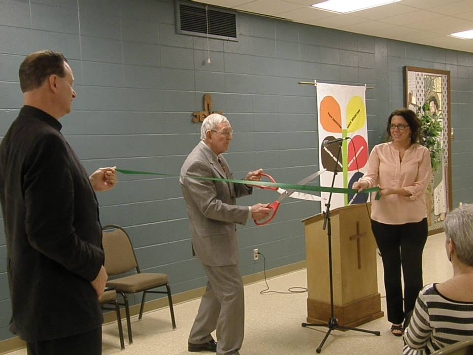 Green Ribbon Cutting