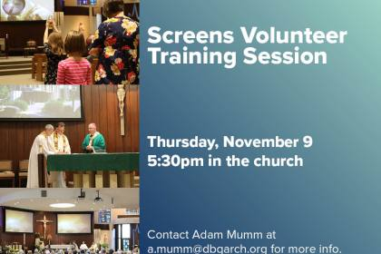Screens Training Session Nov. 8