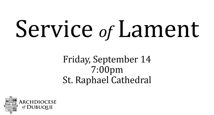 Dubuque Archdiocese Service of Lament
