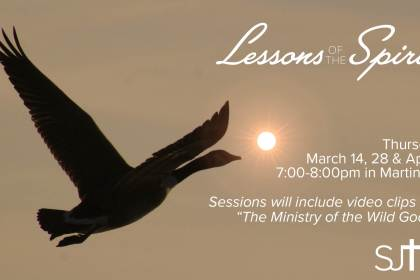 Lessons of the Spirit Thursday at 7pm